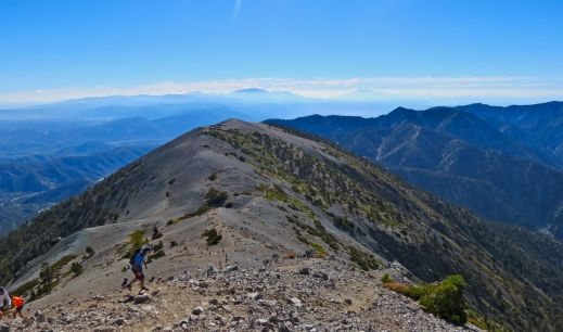 run to the top, trail runners, running up the hill, mt. baldy, baldy,