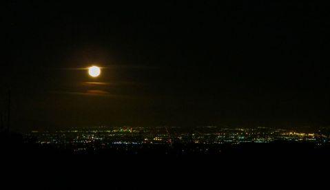 Full moon, San Gorgonio hike, San G hike, Mill Creek Ranger Station,