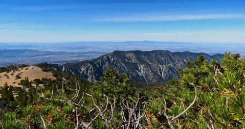 San Gorgonio hike, San G hike, View of San Jacinto, Sunday, gorgeous hike, blue skies, Santiago peak view,