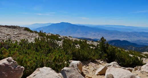 San Gorgonio summit, San Gorgonio hike, View of Mt. San Jacinto, San Gorgonio hike via Vivian Creek Trai