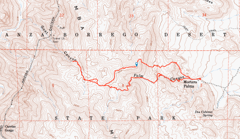 mortero palms trail, goat canyon trestle, anza-borrego desert state park, hike, camping, desert hike, desert, hike track,