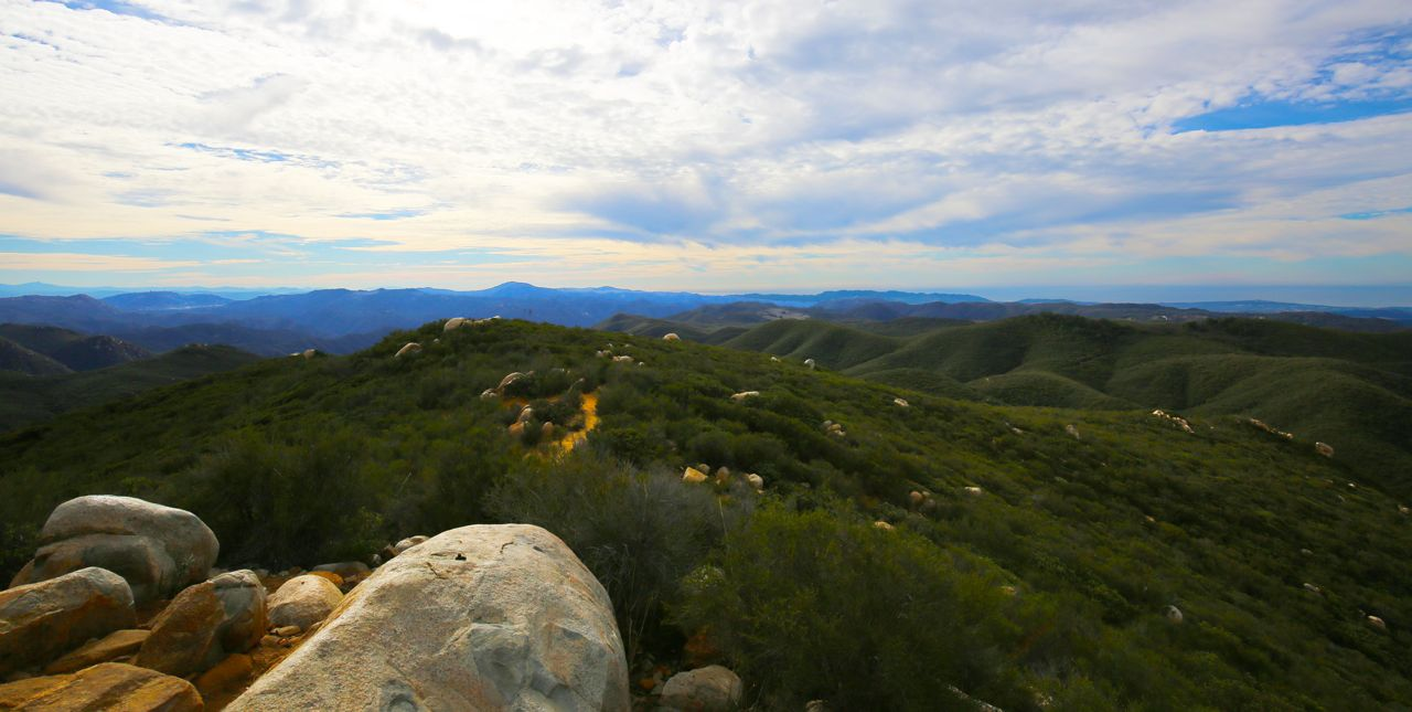 ocean view, beyond Sitton Peak, ortega mountain, view from Sitton Peak, Cleveland National Forest, national forest, trail running, hiking, trail run, hike, morning,
