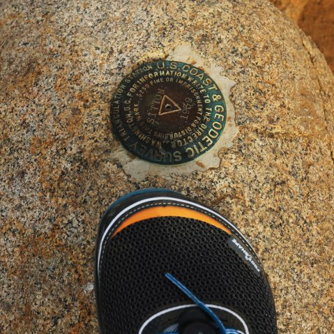 Altra lone peak 2.5, altra, altra trail running shoes, trail running shoes, Cleveland National Forest, national forest, trail running, hiking, Geodetic Survey Marker